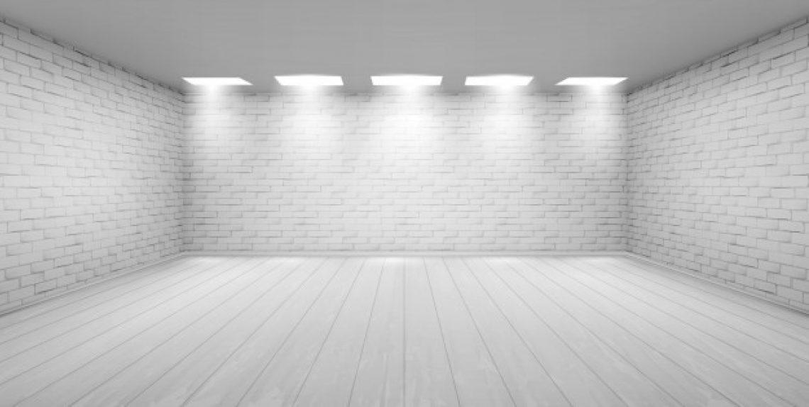 Empty room with white brick walls studio 107791 1349