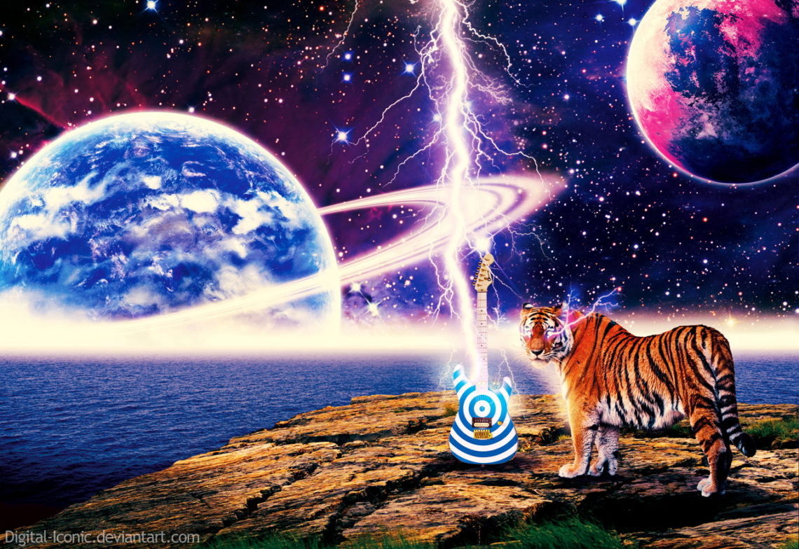 Space  Music  Tigers By Digital Iconic D496692