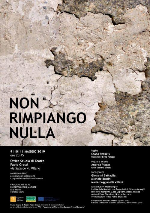 Thumbnail Locandina Non Rimpiango Nulla Irn Paolo Grassi 9 10 11Maggio19