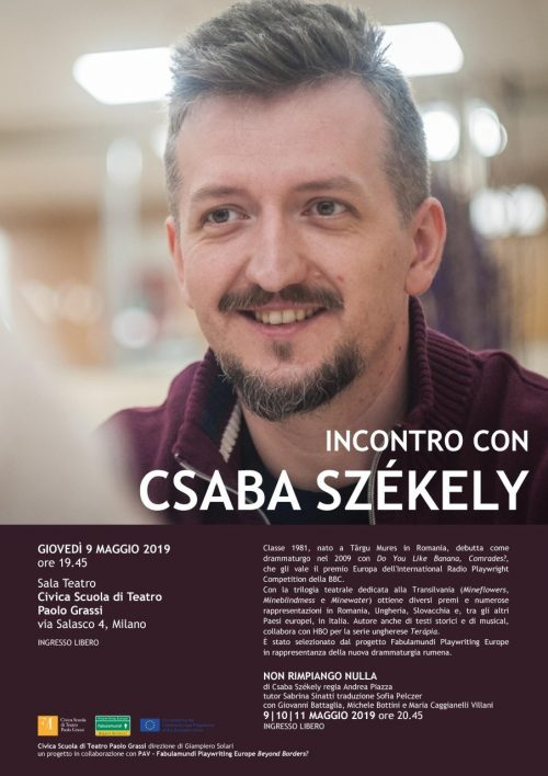 Thumbnail Locandina Incontro Csaba Szekely 9Maggio19